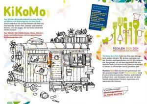 Bildung für nachhaltige Entwicklung Ausmalbild KiKOMo Kinder Koch Mobil Peter Lustig Löwenzahn Bauwagen
